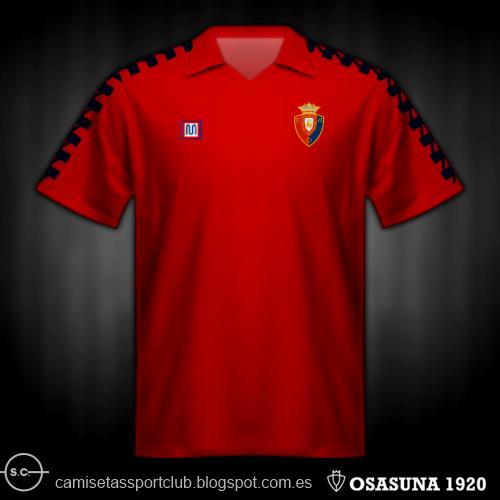 Camisetas de Osasuna de 1980 a 1990