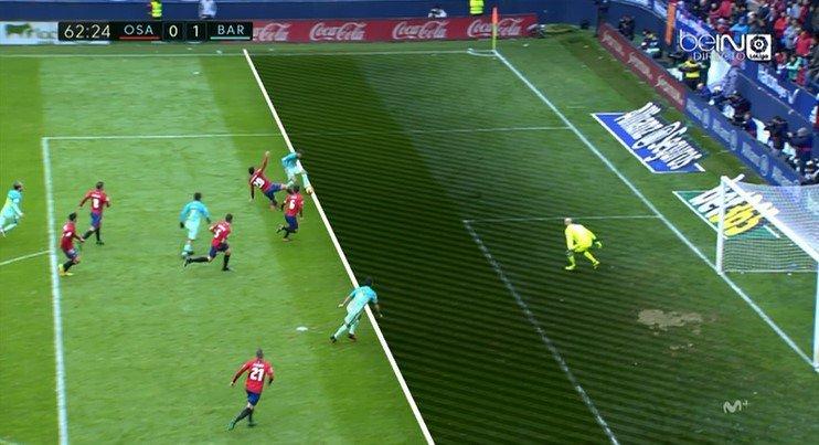 ¿Fuera de juego de Luis Suárez en el 0-1 del Barcelona?