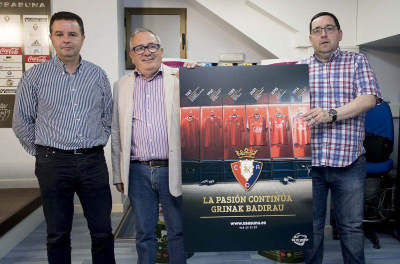 Osasuna se lía y confunde la camiseta del ascenso en el cartel de la campaña de abonados