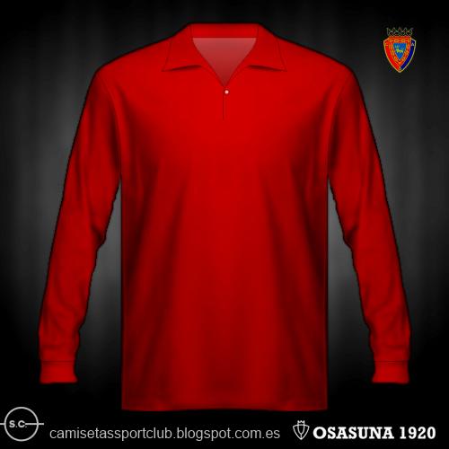 Camisetas de Osasuna de 1920 a 1980