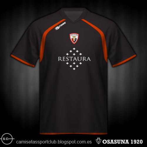 Camisetas de Osasuna de 2000 a 2017