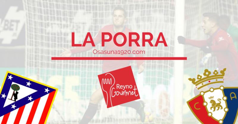 Rellena ya tu pronóstico para el Atlético-Osasuna de la Porra Reyno Gourmet