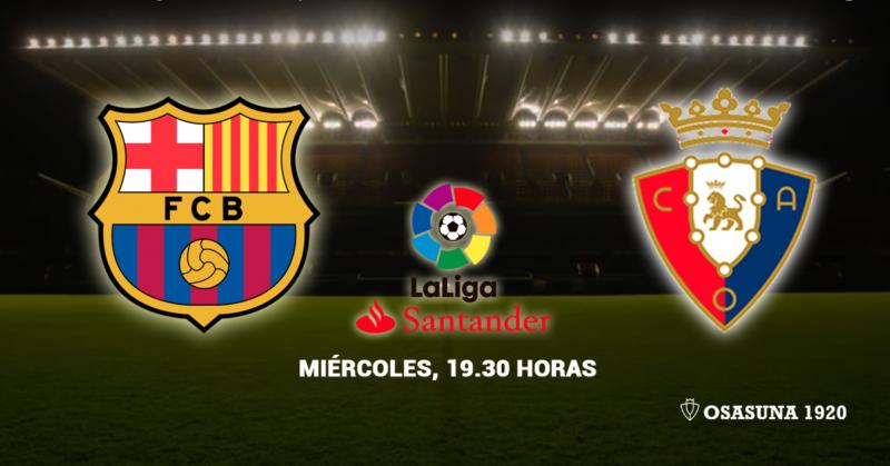 Esta es la alineación de Osasuna contra el Barcelona en el Camp Nou