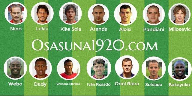 Elige al mejor delantero de Osasuna