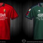 Camisetas de Osasuna de 1990 a 2000