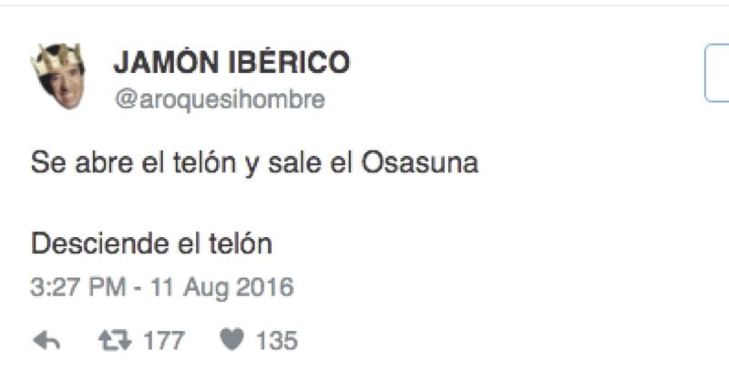 Chistes en twitter ante la dramática situación de Osasuna en la tabla