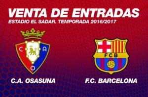 Osasuna Barcelona Entradas