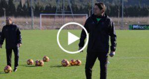 Vasiljevic, en el primer entrenamiento con Osasuna