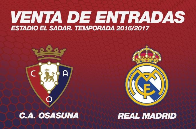 ¿Cuánto vale una entrada para ver al Real Madrid en El Sadar?