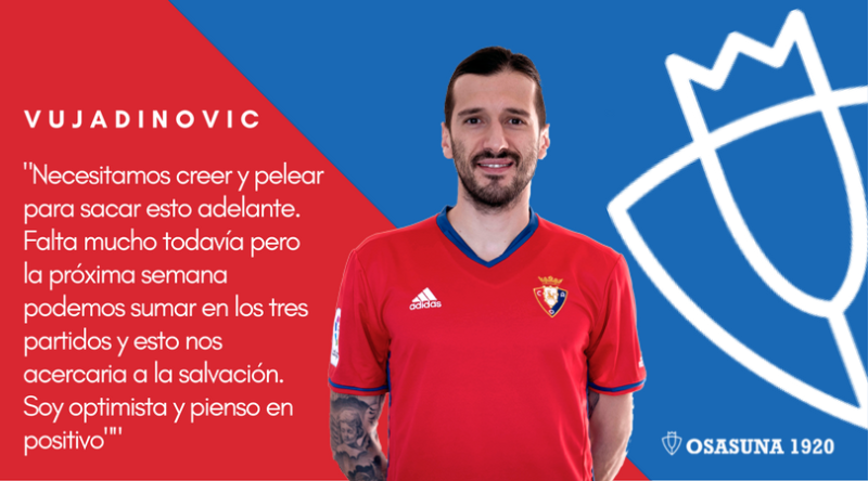 Vujadinovic sí cree en Osasuna