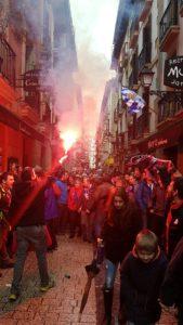 Aficionados de Osasuna en Anoeta