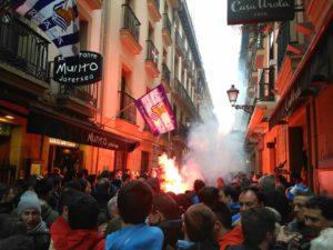 Aficionados de Osasuna en San Sebastián