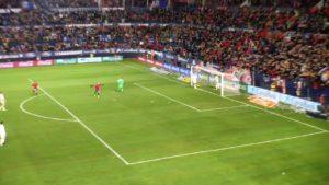 Así rugió El Sadar con el golazo de Sergio León al Real Madrid