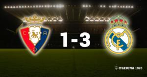 Osasuna 1-3 Real Madrid