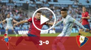 Resumen Celta-Osasuna (3-0)
