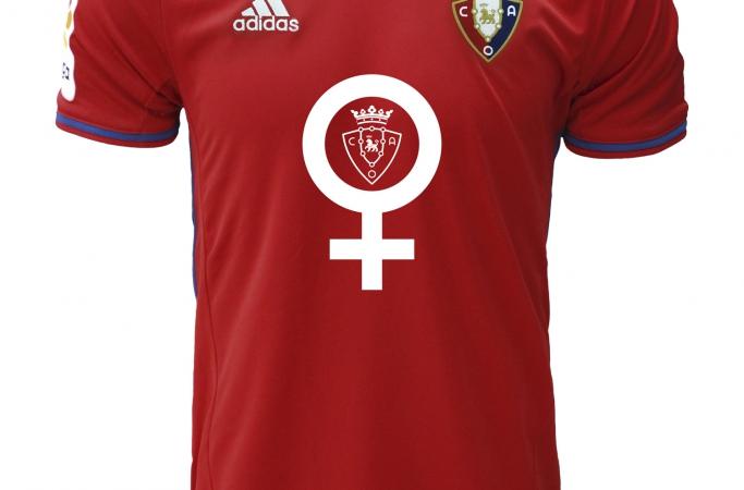 La camiseta con la que Osasuna rendirá homenaje a todas las mujeres