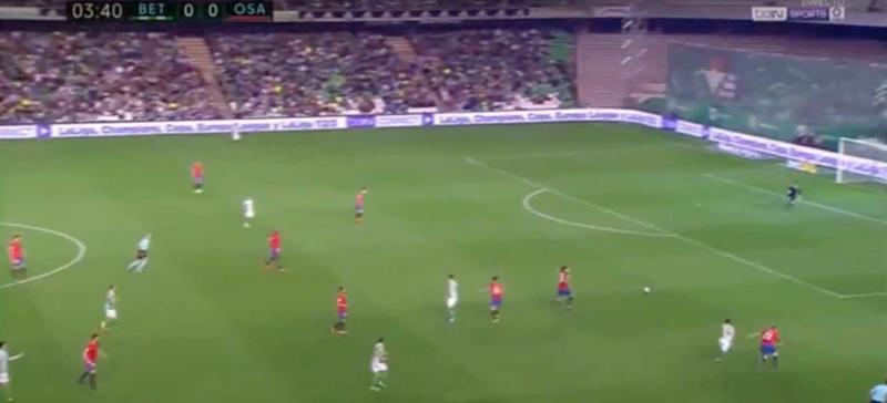 Los escandalosos fallos defensivos de Osasuna en los goles del Betis