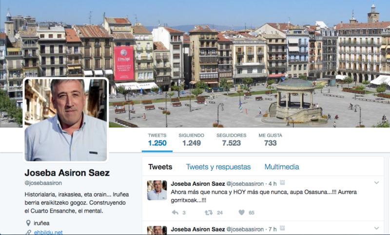 Mensaje de ánimo de Joseba Asiron a Osasuna