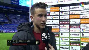 """Álex Berenguer: """"Nos merecíamos una victoria"""""""