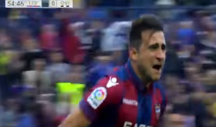 Sergio Postigo, autor del gol del ascenso del Levante, jugó dos temporadas en el Promesas