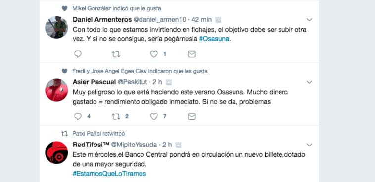 10 tweets que resumen la división por la inversión en fichajes de Osasuna
