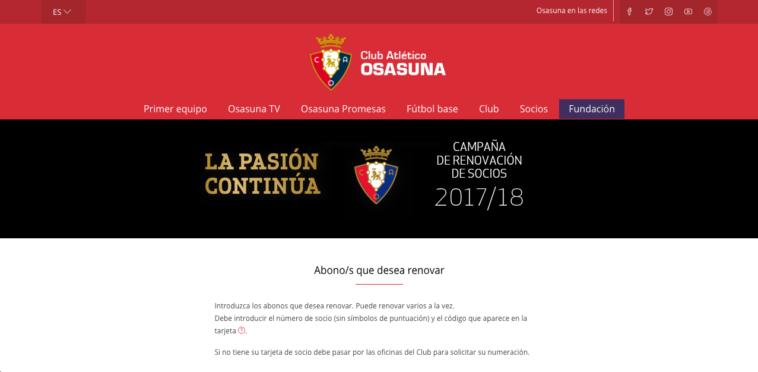 Osasuna, muy cerca de superar una cifra histórica de socios en Segunda
