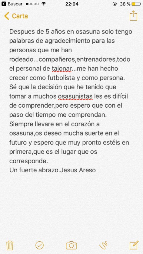 Jesús Areso rompe su silencio