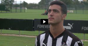 Primeras declaraciones de Mikel Merino como jugador del Newcastle