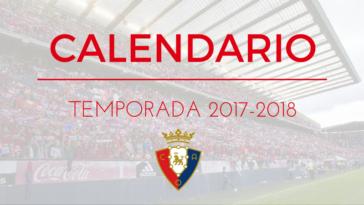 Osasuna Calendario Temporada 2017-2018