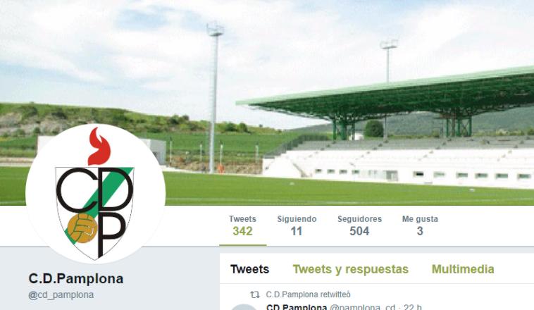 El CD Pamplona crea una nueva cuenta de Twitter para aclarar la polémica