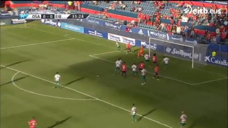 Resumen y todos los goles del Osasuna-Eibar (2-0)