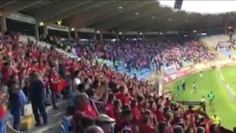 La afición de Osasuna sigue siendo de Primera: así despidió al equipo en León