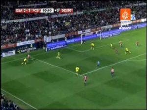 El primer autogol de Piqué con el Barça fue en El Sadar