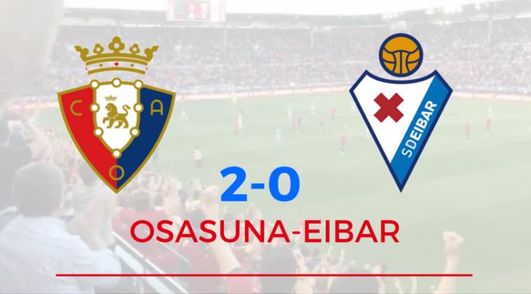 Osasuna regala a la afición la primera victoria en El Sadar de la temporada