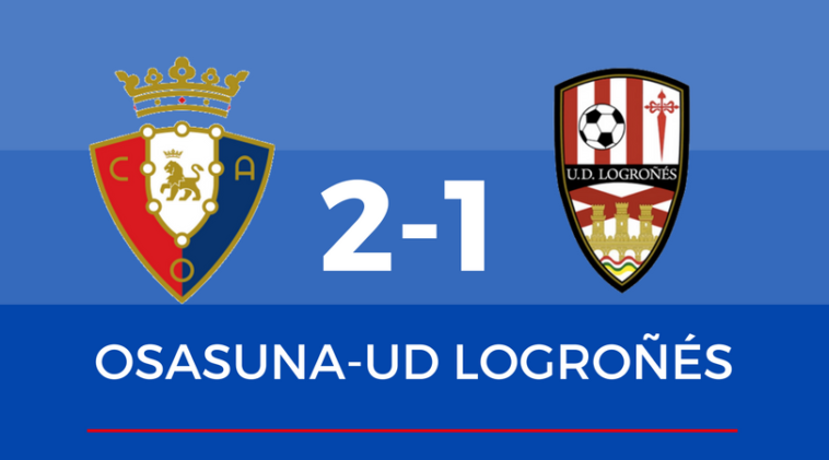 La pegada de Osasuna remonta el partido contra la UD Logroñés
