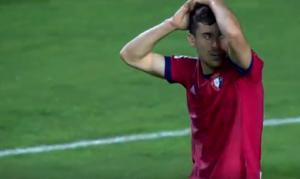 Kike Barja, en el partido de Osasuna contra el Cádiz