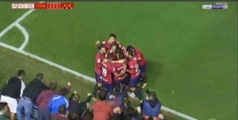 Así fueron los goles de Osasuna contra el Albacete