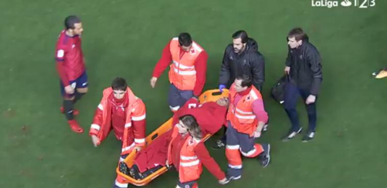 Dos jugadores de Osasuna directos al hospital
