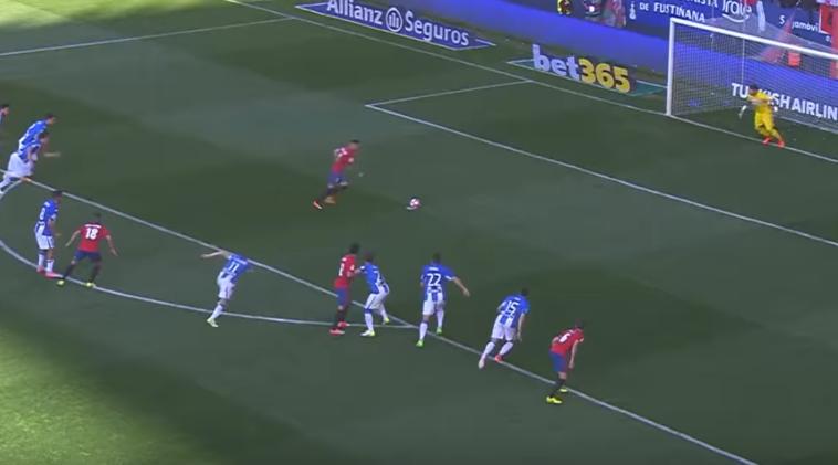 ¿Cuánto tiempo ha pasado desde el último penalti a favor de Osasuna?