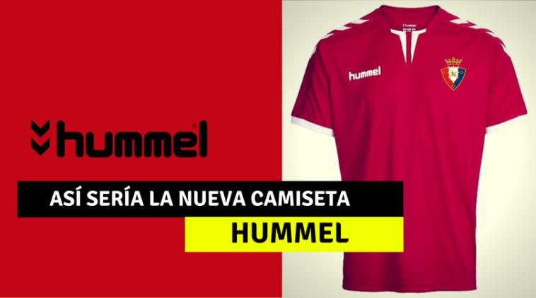 Así sería la camiseta de Osasuna con Hummel, la posible nueva firma de ropa