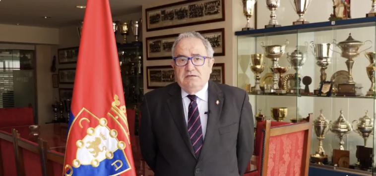 "Sabalza: ""Fermín Ezcurra hizo posible que Osasuna siguiera siendo un club"""