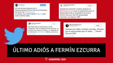 Clubes, jugadores, instituciones... se vuelcan en el último adiós a Fermín Ezcurra