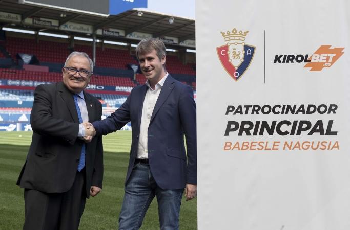 Kirolbet será el patrocinador principal de Osasuna las próximas tres temporadas