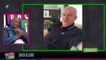 📹 MOMENTAZO: Javier Aguirre le canta una canción de Osasuna al 'Chengue' Morales en plena entrevista