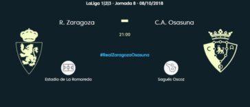 El partido entre Real Zaragoza y Osasuna se emitirá gratis y en abierto