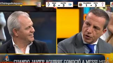 VÍDEO | La pullita en directo de Javier Aguirre a Cristóbal Soria sobre un Sevilla - Osasuna