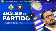 VÍDEO| José Bordalás arremete contra el juego de Osasuna y el planteamiento deJagoba Arrasate