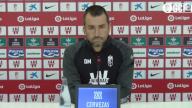 Así terminó Diego Martínez su rueda de prensa en la previa del Getafe - Granada
