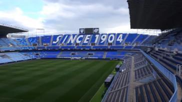 Duros cánticos contra Ontiveros en el estadio del Málaga